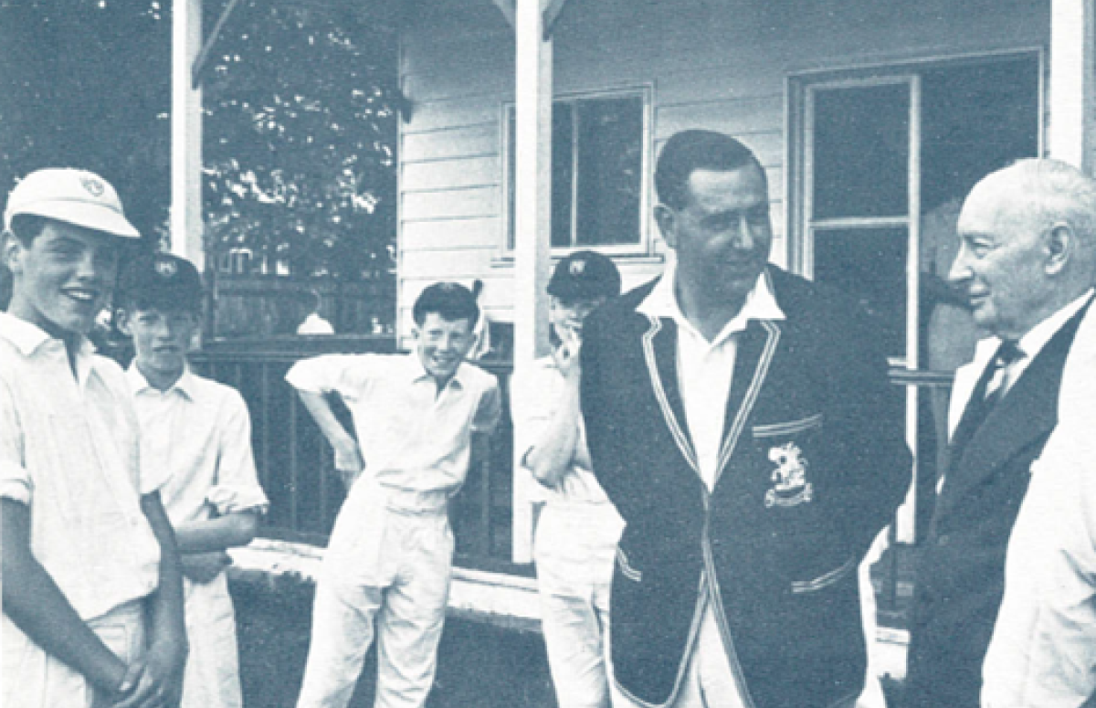 Colin Cowdrey June 1964 skipper of old boys vs First XI